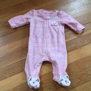 Other - Baby Girl my first Christmas fleece Pajamas